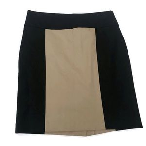 💋 Banana Republic Color Block Skirt Brown Black